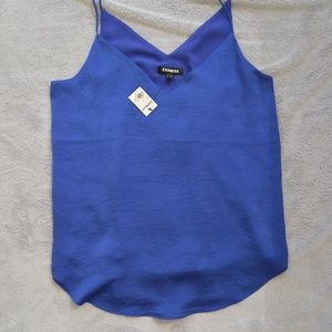 Express Bright Blue Downtown Cami size SMALL
